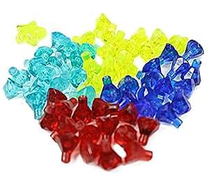 LEGO - Diamantes (60 unidades), varios colores, incluye estrella en color neón transparente