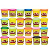 Play-Doh Modeling Compound 24-Pack Case of Colors, Non-Toxic, Multi-Color, 3-Ounce Cans, Ages 2 a...