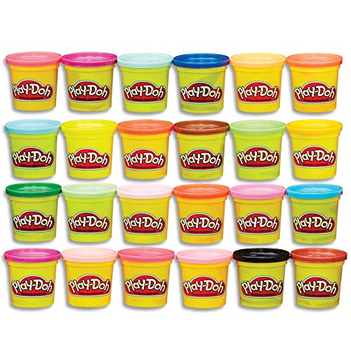 Halloween Themed Pet Names (Play-Doh Modeling Compound 24-Pack Case of Colors, Non-Toxic, Multi-Color, 3-Ounce Cans, Ages 2 and up, Multicolor (Amazon)