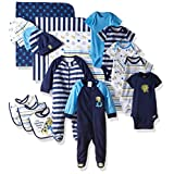 Gerber Boys' 19 Piece Essentials Gift Set, Safari, Newborn