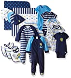 Baby : Gerber Baby Boys' 19 Piece Baby Essentials Gift Set, Safari, Newborn