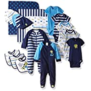 Gerber Baby Boys' 19 Piece Baby Essentials Gift Set, Safari, Newborn