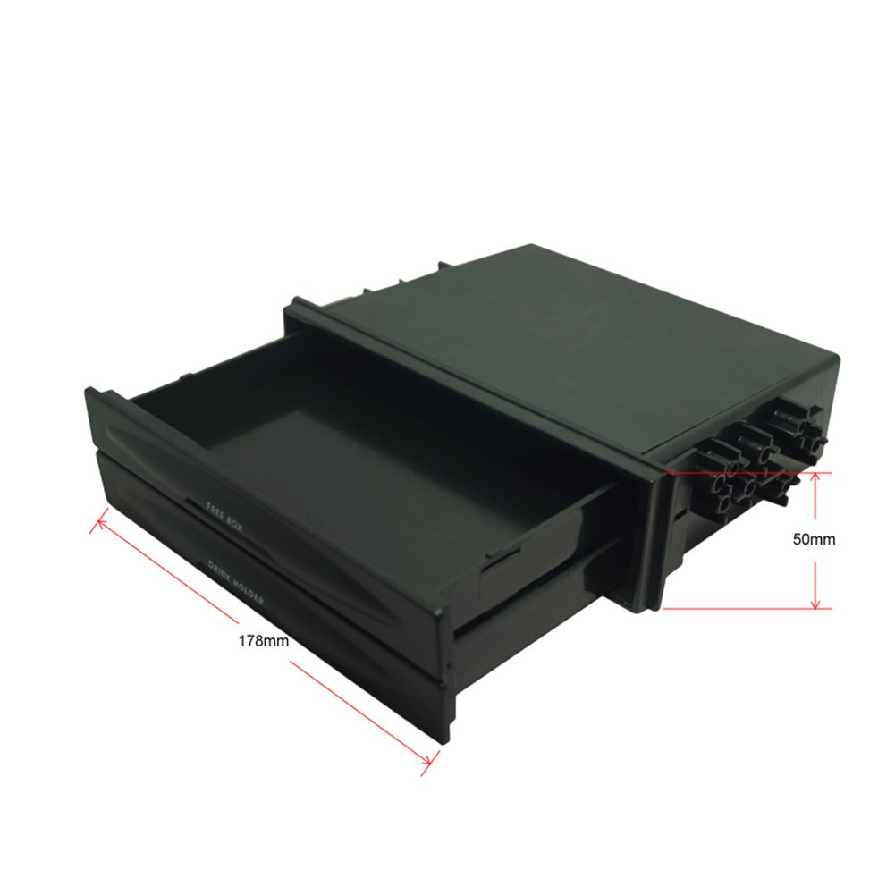 Atreus Car Universal Radio Stereo Trim Dash Pocket Drink-Cup Holder//Storage Box Drawer