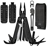 Leatherman Wave Black Oxide Finish Multi Tool with Nylon MOLLE Sheath 830246, & 42 piece Bit Kit + Leatherman Removable Pocket Clip Quick-Release Lanyard Ring
