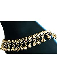 XY Fancy Indian Traditional Belly Dance Ghungroo Anklet with Jingling Bells-Toned