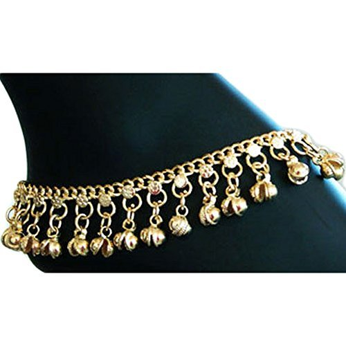 XY Fancy Indian Traditional Belly Dance Ghungroo Anklet with Jingling Bells-Toned XY FANCY CA-308