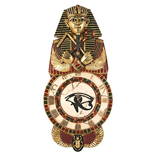 Design Toscano Medinet Habu Sculptural Egyptian Wall Clock