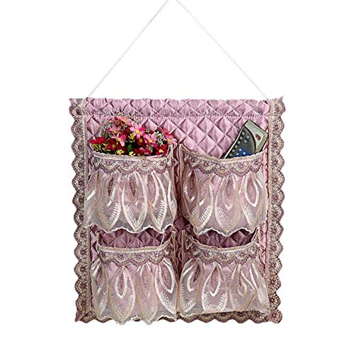 - MOPOLIS Modern 1/2/4 Pocket Wall Hanging Storage Bag Organizer Toy Container Pouch Decor | Model - Pink - 4 Pocket