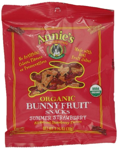 Annie's Summer Strawberry Organic Fruit Snacks, 2.75-Ounce Bag (Pack of 9)