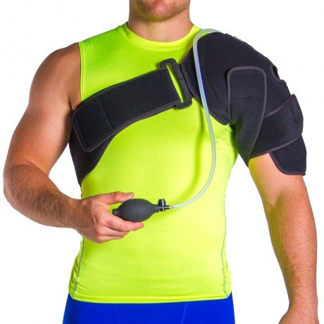 Cryo Pneumatic Shoulder Injury Ice Wrap with Cold Therapy Gels & Compression Pump - Great Frozen Shoulder Treatment (One Size)