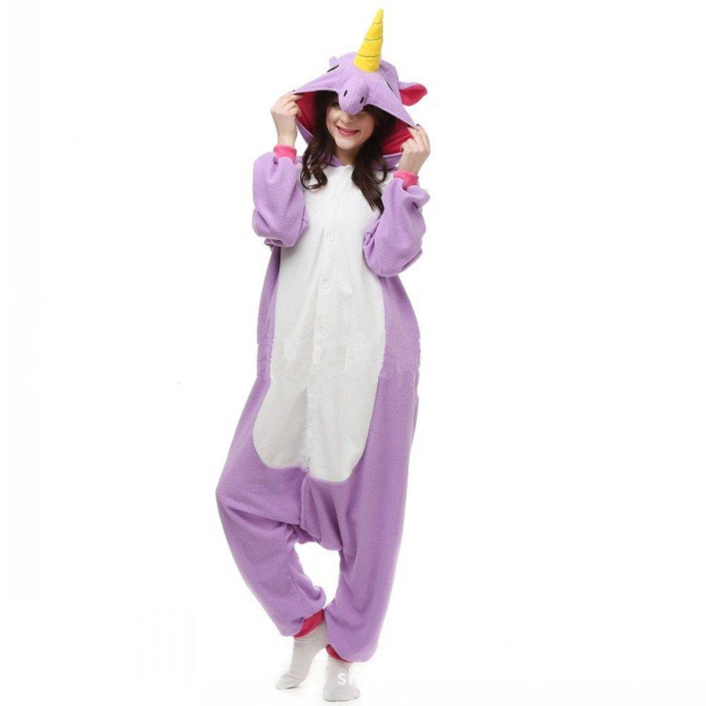 Colorfulworld Pijamas Juguetes Ropa y Juegos Animal Traje Pijama Cosplay Disfraces (S: 148-158, Purp...