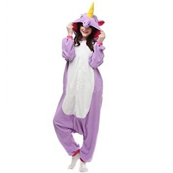 Colorfulworld Unicornio Anime Disfraces Trajes Disfraz Cosplay Animales Pijamas Pyjamas Ropa (S, purple)