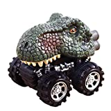 E-SCENERY Dinosaur Toys Truck, Pull Back Cars Big Tire Wheel Vehicles Playset for Kids Toddlers Children's Day Gift (3#)