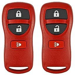 2 Red- QualityKeylessPlus Remote Replacement 3 Button Keyless Entry FCC ID: KBRASTU15 FREE KEYTAG