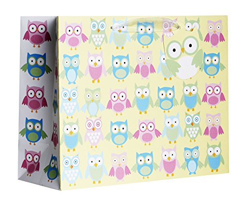 Jillson Roberts Jumbo Baby Shower Gift Bags, Owlets, 6-Co...
