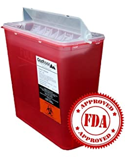1937ba3f137d 5 Quart Size | OakRidge Products Sharps Disposal Container | TouchFree  disposal
