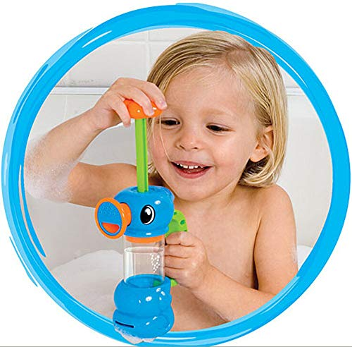 Aviat Kids Baby Cute Duck Design Water Pump Bath Toy Bathtub Toys Bathroom Toy Pool Floating Water Toy Bathtub Pals Play Toy [Ship from USA Directly] (Blue)