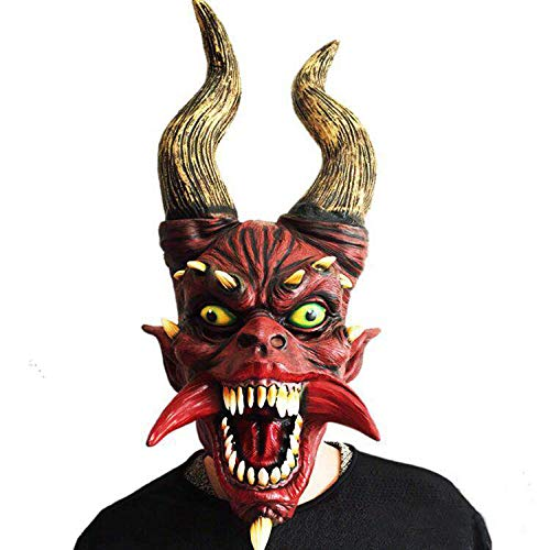 Halloween Scary Masks, Horror Zombie Props, Biochemical Monster Latex Masks for Cosplay, Costume Party, Games Activities and Amusements]()