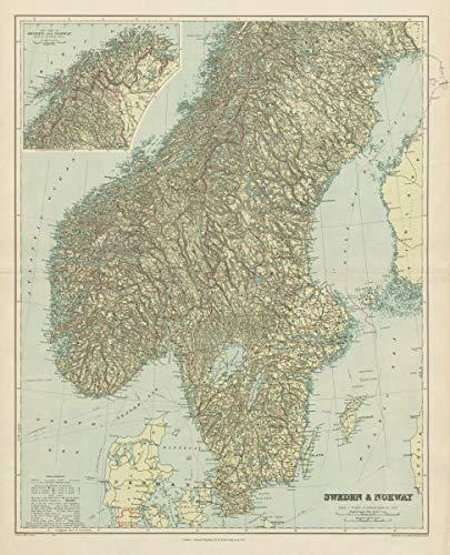 Amazon Com Scandinavia Physical Mountains Fjords Glaciers