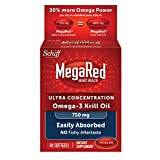 MegaRed 750mg Ultra Concentration Omega-3 Krill Oil, 40 softgels (Pack of 12)