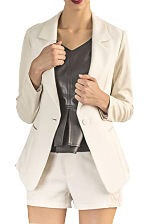 Teng Niu - Traje con falda - para mujer Blanco blanco XXL: Amazon ...