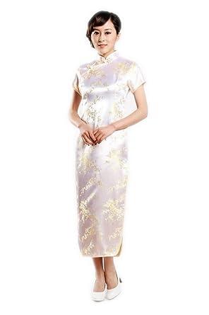 acheter en ligne 97305 ce631 JTC Femme Calycanthe Robe Chinoise de soirée Longue ...