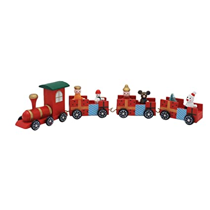 Amazon.com: 1 Set Little Wood Train Ornament Christmas Gift Toddler ...
