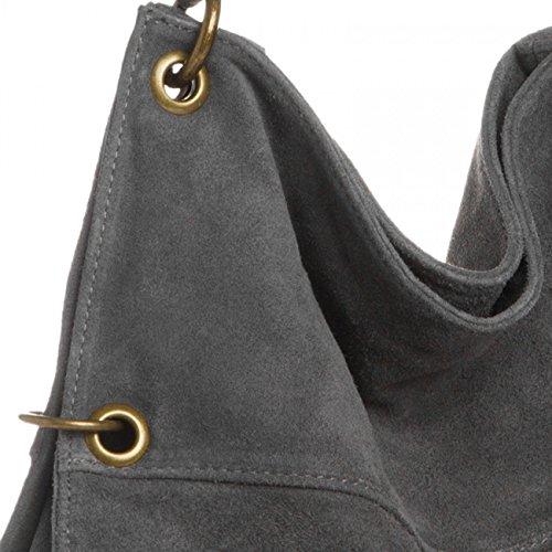 Bag Women Grey Suede TL757 CASPAR CASPAR Shoulder TL757 x0YtY