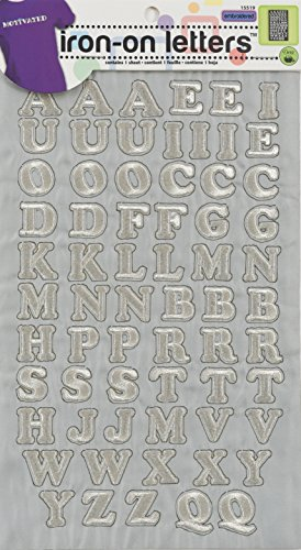 Embroidered Iron On Letters (Dritz Iron-On Embroidered Letters, Cooper - silver)
