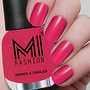 MI Fashion High Gloss Nail Polish Combo 4X12ml Nail Paint Combo Magenta, Coral Crush, Green and Wine