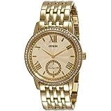 Guess Women's GRAMERCY Gold-Tone Steel Bracelet & Case Quartz Analog Watch W0573L2