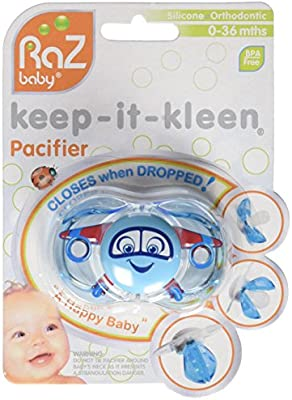 RaZbaby - BEBELEPHANT Keep It Kleen Dummy (Blue): Amazon.es ...