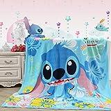 Blaze Childrens Cartoon Printing Blanket Coral Fleece Blanket (40 By 55 Inch, Stitch)