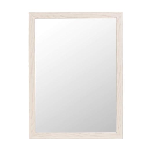 Espejo de Pared nórdico Blanco de Madera MDF para decoración de 56 x 76 cm Fantasy - LOLAhome