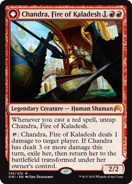 Magic: The Gathering - Chandra, Fire of Kaladesh // Chandra, Roaring Flame - Magic Origins