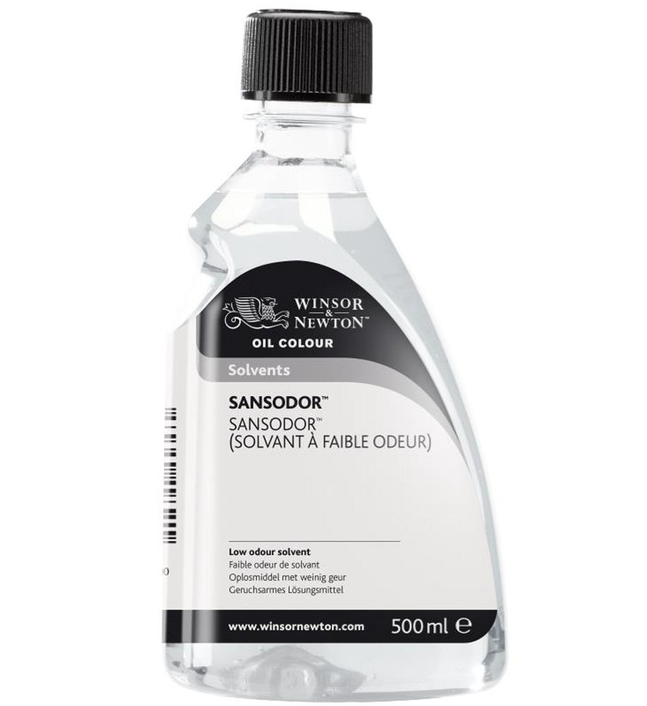 W& N Sansador, low odor solvent, 500 ml bottle WINSOR & NEWTON