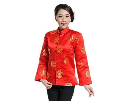 sélectionner pour officiel qualité parfaite les mieux notés ACVIP Femme Veste Costume de Tang Style Chinois Elégante ...