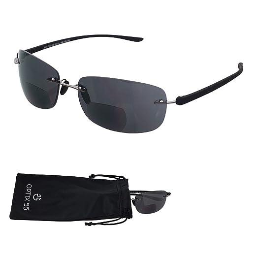 30c0fd971f Rimless Bifocal Reading Sunglasses - Lightweight