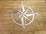 Cheap Nautical Star Compass Steel Wall Decor wall hanging art rustic vintage polished finish