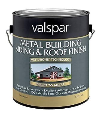 Valspar 27-0004260 Metal Building Siding & Roof Finish, Brite White ~ Gallon