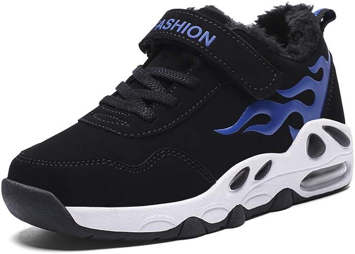 Niño Invierno Calentar Zapatillas Deportes Niños Zapatos para Correr Nieve Casual Trotar Aptitud Atlético para Caminar Al Aire Libre Entrenadores: Amazon.es: Zapatos y complementos