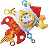 haba space - HABA Rocket Teether Cuddly - Machine Washable Plush Activity Toy with Teething Elements