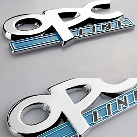 Dsycar 1Pcs 3D Metal OPC Car Side Fender Rear Trunk Emblem Badge Sticker Decal for Universal Cars Motorcycle Car Styling Decorative Accessories 1