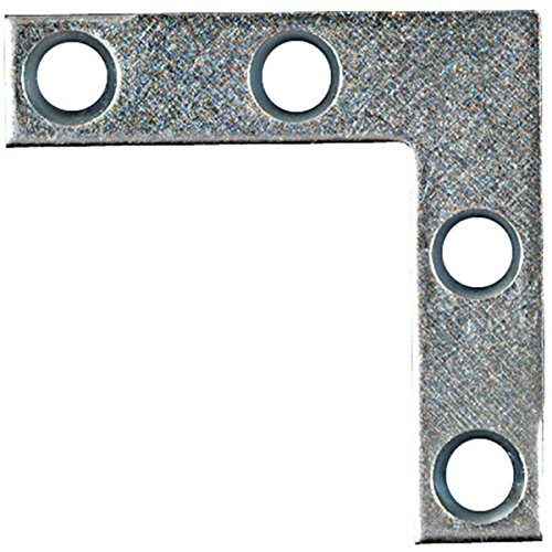 National/Stanley Hardware 22010719 Corner Brace - Flat 1-1/2'' X 3/8'' - Zinc