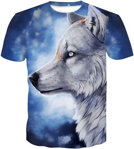 WWDDVH León Camiseta Animal 3D Camiseta Camisas Estampadas Punk Ropa para Hombre Gótica Camiseta Divertida De Los Hombres De Manga Corta: Amazon.es: Deportes y aire libre