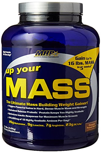 MHP, Up Your Mass Weight Gainer, Chocolate Peanut Butter, 5.1 Pound