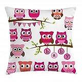 Ambesonne Nursery Throw Pillow Cushion Cover, Girl