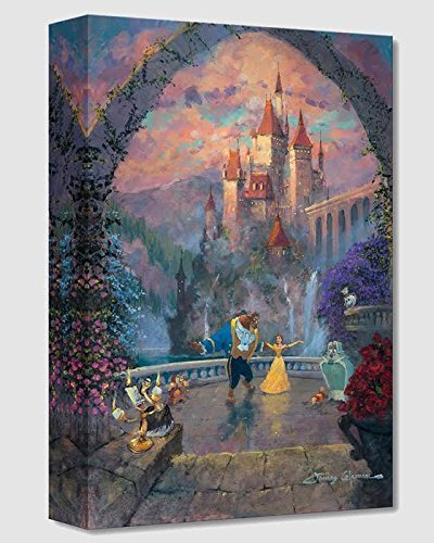 Beast and Belle Forever - Treasures on Canvas - Disney Fine Art Beauty and the Beast 18'' x 12'' Gallery Wrapped Canvas Wall Art by James Coleman by Disney Fine Art