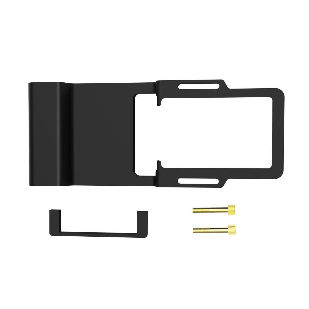 Boge Adattatore Piastra di Montaggio, Solido Handheld Gimbal Mounnt Adattatore per GoPro Hero 6/5/4/3 +, Zhiyun Smooth Q, e DJI Osmo, Nero