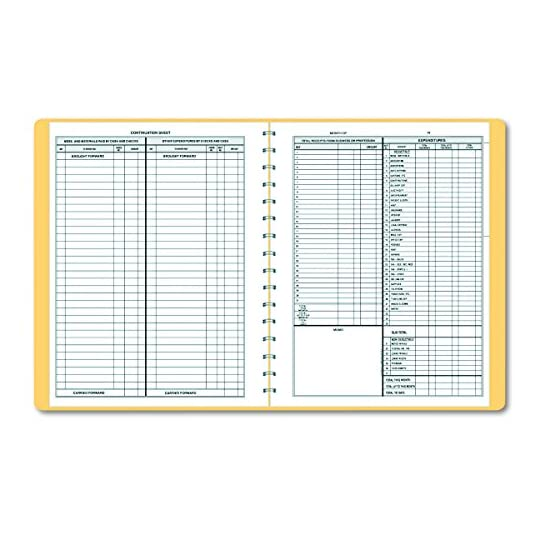 Dome 612 Bookkeeping Record, Tan Vinyl Cover, 128 Pages, 8 1/2 x 11 Pages